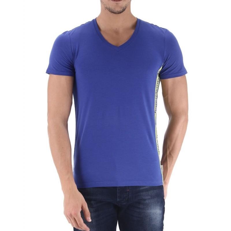 Camiseta Bikkembergs Mare Azul - Camisetas|Tops - Ropa de marca Dirk Bikkembergs Camiseta Hombre Manga corta cuello pico color a