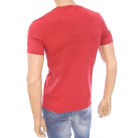 Kaporal Tshirt Coake Hibicus - T-shirts|Tops - Acheter la marque Kaporal T-Shirt Homme couleur rouge -
