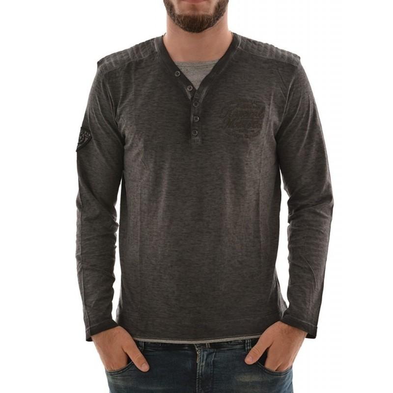 Kaporal Tshirt Basko Black - Camisetas|Tops - Ropa de marca Kaporal Camiseta Hombre color negro -