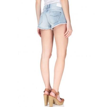 KAPORAL Short Jopli Eratick - Bermudas shorts y petos - Ropa de marca Kaporal Short Mujer color azul con boton y cremallera -