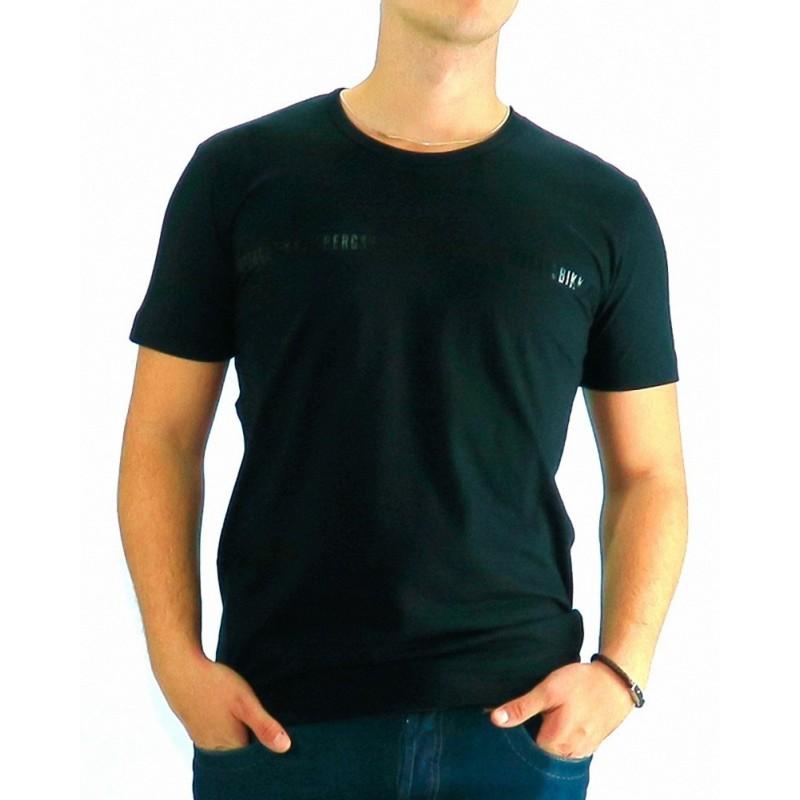 Tshirt Dirk Bikkemberg Black Shinny Logo