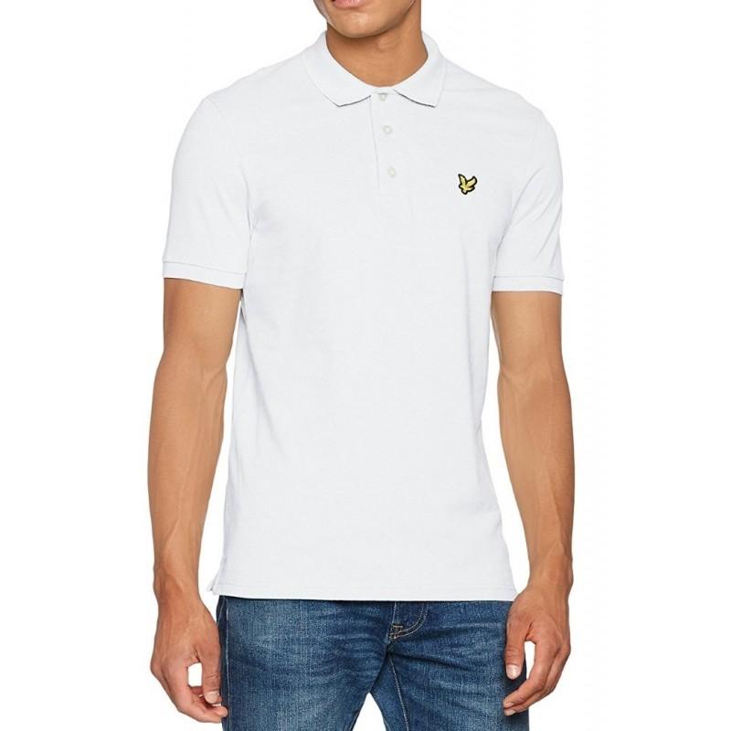 White polo shirt Lyle & Scott for man...