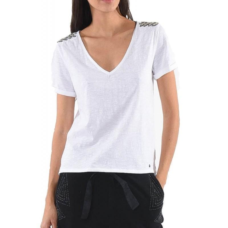 Camiseta de manga corta para mujer...