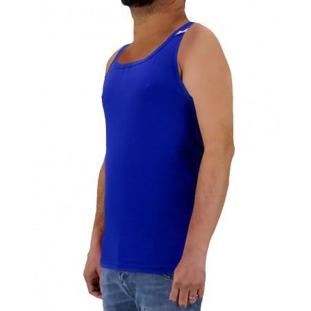 Camiseta sin mangas para hombre Dirk Bikkembergs azul real B4C2006-03-2020 - Camisetas Tops - Ropa de marca Dirk Bikkembergs Cam