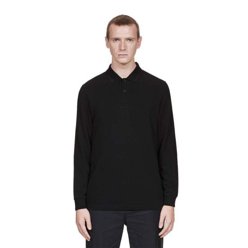 Polo homme noir Fred Perry à double...