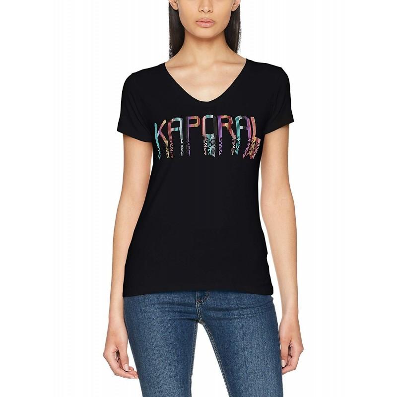 t-shirt manica corta donna kaporal...