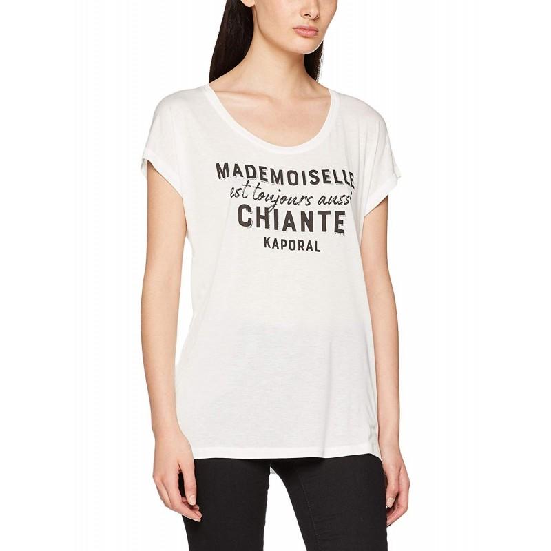 camiseta manga corta mujer blanca...