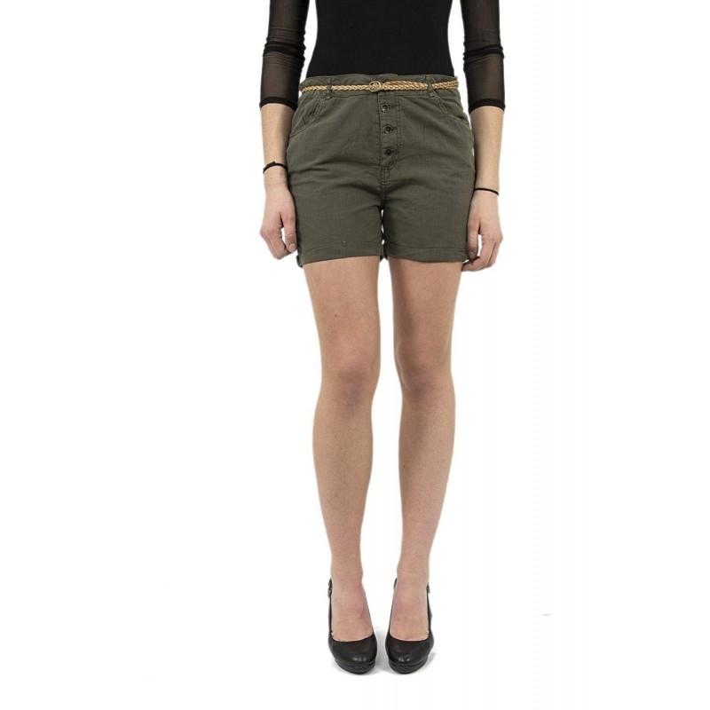 short femme kaki couleur kaporal fago