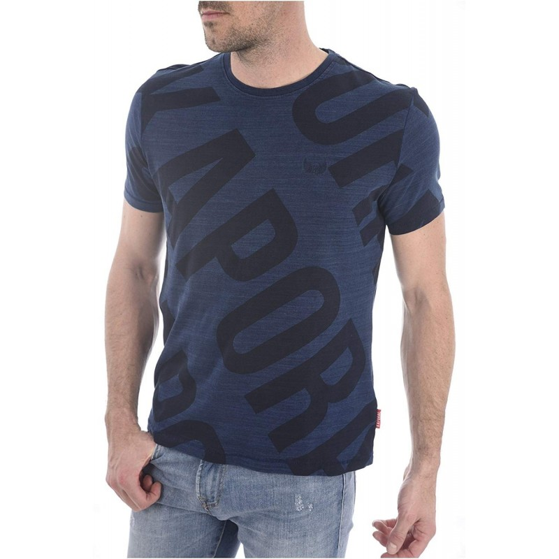 camiseta manga corta color azul...
