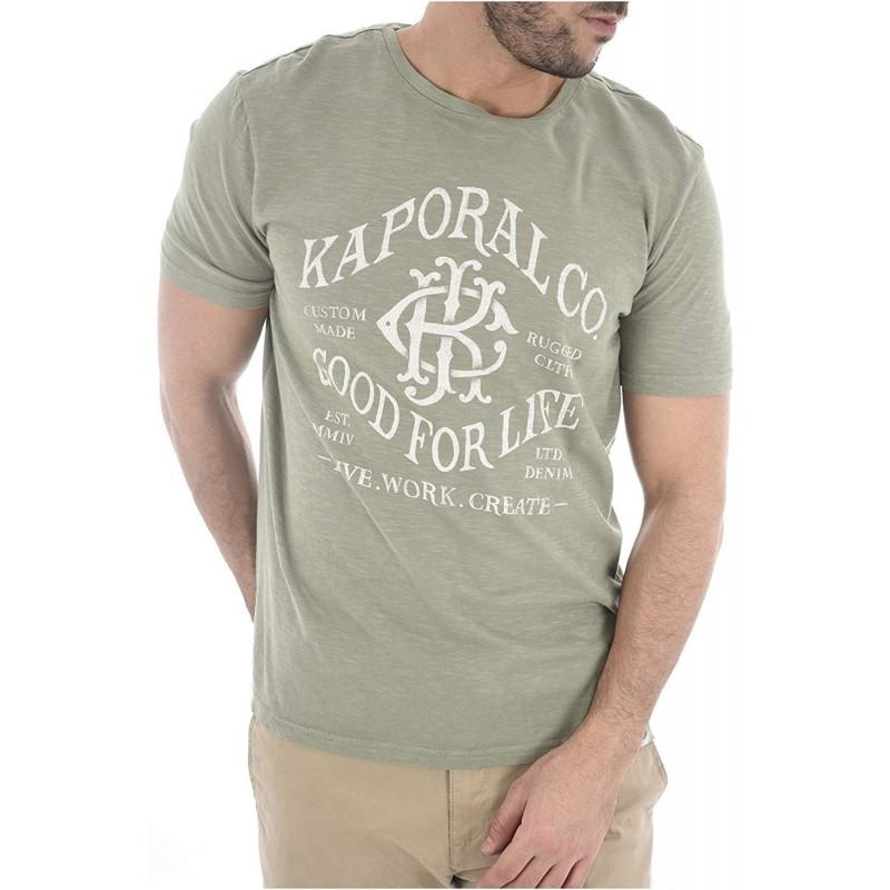 camiseta manga corta color verde...