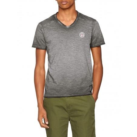 tshirt manga corta hombre color gris kaporal BRUGE - Camisetas|Tops - Ropa de marca Kaporal Camiseta Hombre Manga corta cuello p