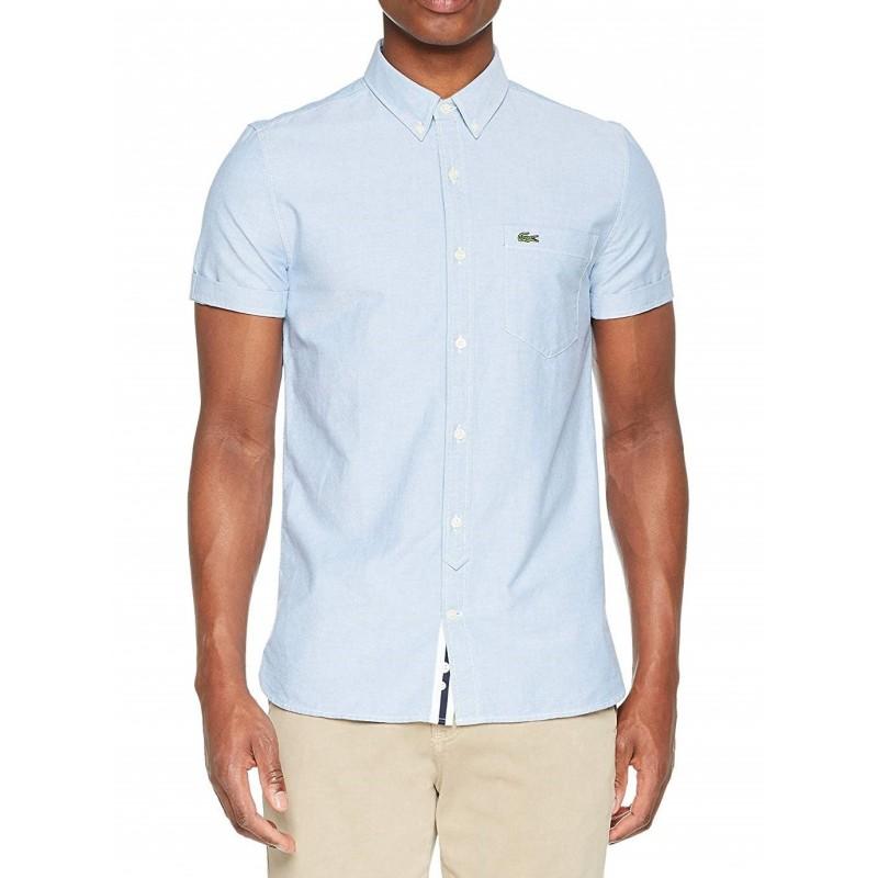 Camisa manga corta hombre azul...