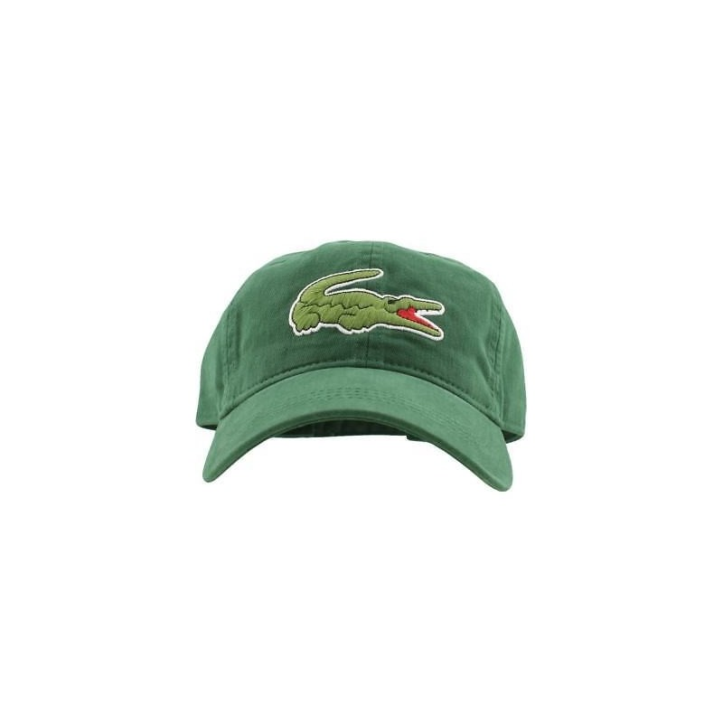 Gorra kaki Lacoste RK8217 G6K - Gorras Hombre - Ropa de marca Lacoste Gorra Hombre color verde con hebilla -