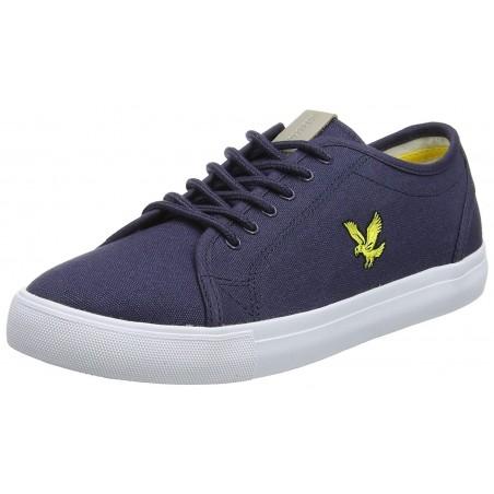 Zapatos deportivos Lyle & Scott algodon canvas para hombre color azul marino - Calzado hombre - Ropa de marca Lyle & Scott Ltd.