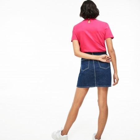 Polo manga corta mujer LACOSTE PF262700ACK - Camisas|Polos - Ropa de marca Lacoste Polo Mujer Manga corta cuello polo color rosa