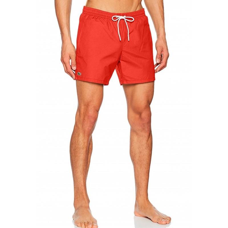 Bañador hombre LACOSTE MH70920079V - Bañadores y ropa de baño hombre - Ropa de marca Lacoste Bañador Hombre color rojo con goma