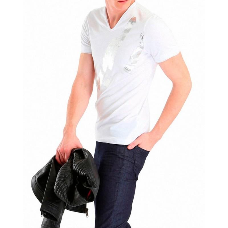 Denim & Supply-Ralph Lauren Top-Camiseta Gris Oscuro Drapey Preamble