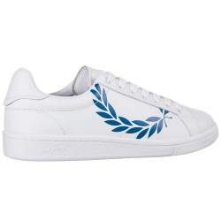 Men shoes FRED PERRY B4231 200 PRINTED LAUREL BLUE - Man Shoes - Buy brand Fred Perry Men Shoes colour white Lace-up -