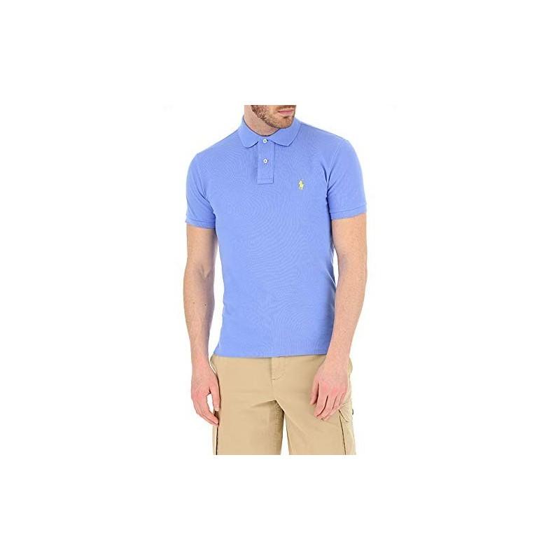 Polo short sleeve Ralph Lauren blu ciel