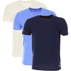 PACK DE 3 T-SHIRTS RALPH LAUREN MULTI BLUE - T-shirts|Tops - Acheter la marque Polo Ralph Lauren T-Shirt Homme Manche courte Col
