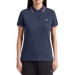 Black Fred Perry Women's Polo 5100E97 - Shirts|Polos - Branded clothing Fred Perry Womens Polo Short sleeve polo neck colour nav