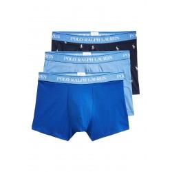 Boxer homme Ralph Lauren 3 pièces bleu ciel / bleu / noir avec logos 714662050054 - Sous-vêtements pour homme - Acheter la marqu