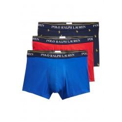 Boxer homme Ralph lauren pack de 3 pièces couleur bleu / rouge / marine avec logos 714662050057 - Sous-vêtements pour homme - Ac