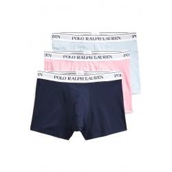 Ralph lauren men's boxer pack 3 pieces light blue / pink / navy 714662050055 - Men's underwear - Buy brand Polo Ralph Lauren Men