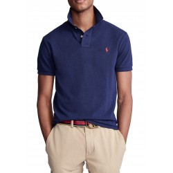 RALPH LAUREN men's short-sleeved polo shirt in navy with red logo on the chest RL710795080007 - Polos|Shirts - Branded clothing