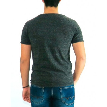 Camiseta HALHAN Japan Rags - Camisetas|Tops - Ropa de marca Japan Rags Camiseta Hombre Manga corta cuello redondo color gris -