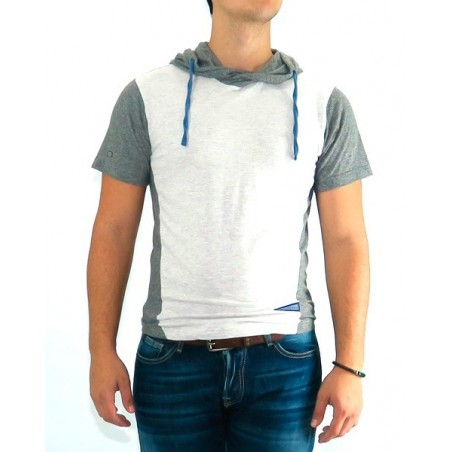 Camiseta HGEKA Japan Rags - Camisetas|Tops - Ropa de marca Japan Rags Camiseta Hombre Manga corta cuello con capucha color gris
