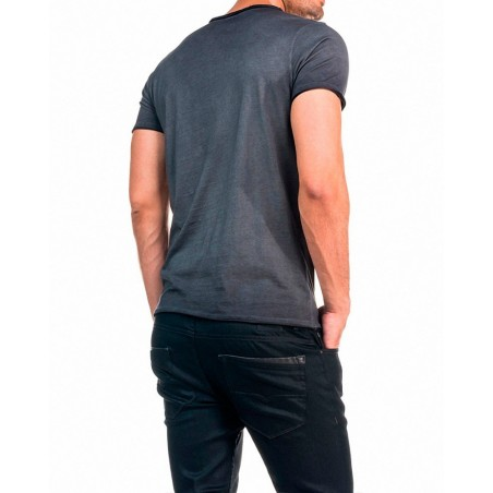 Camiseta Diego Salsa Jeans - Camisetas Tops - Ropa de marca Salsa Jeans Camiseta Hombre Manga corta cuello redondo color gris -