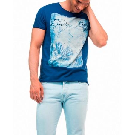 Camiseta Angel Salsa Jeans - Camisetas|Tops - Ropa de marca Salsa Jeans Camiseta Hombre Manga corta cuello redondo color azul -
