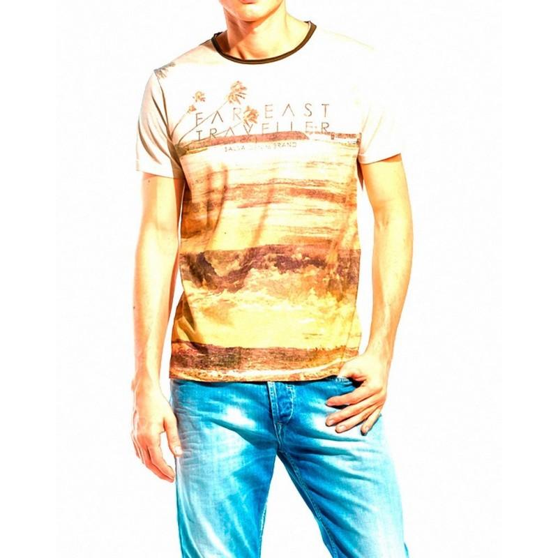 Camiseta Emili Salsa Jeans - Camisetas|Tops - Ropa de marca Salsa Jeans Camiseta Hombre Manga corta cuello redondo color multico