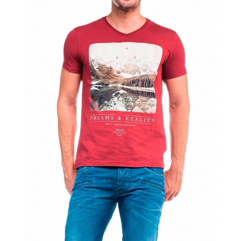 Camiseta Mohfi Salsa Jeans - Camisetas|Tops - Ropa de marca Salsa Jeans Camiseta Hombre Manga corta cuello redondo color rojo -