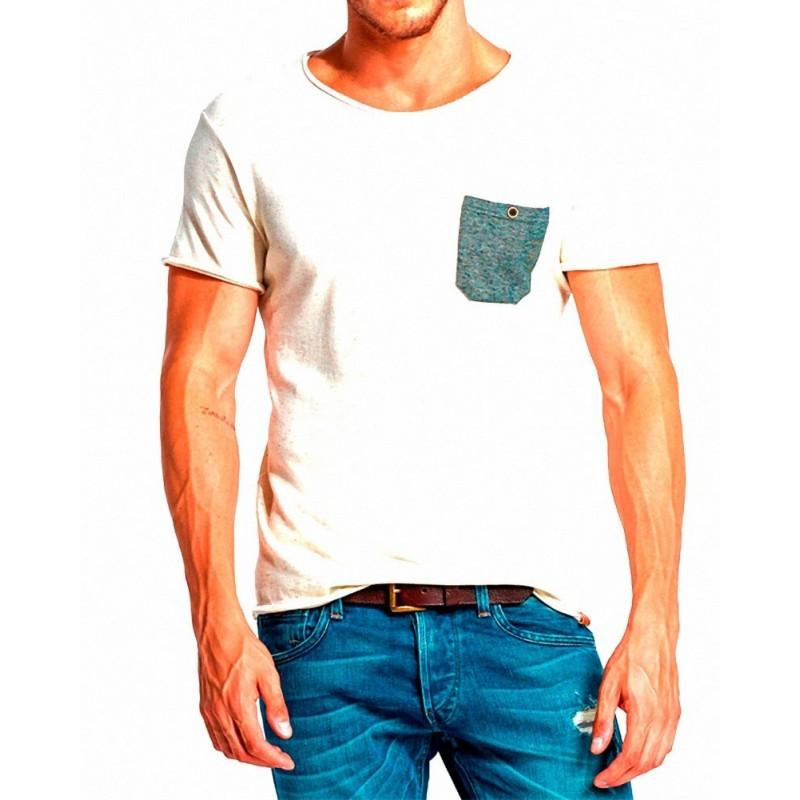 Camiseta Aitana Salsa Jeans - Camisetas|Tops - Ropa de marca Salsa Jeans Camiseta Hombre Manga corta cuello redondo color beige