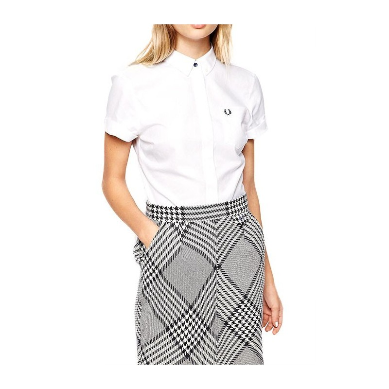 Fred Perry Woman Shirt White Cotton...